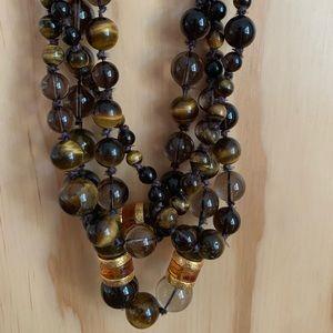 Alexis Bittar tiger eye 4 strand necklace